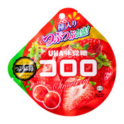 UHA Cororo Premium Fruit Juice Gummy Strawberry Flavor | 味覺糖 草莓味果汁軟糖 40g