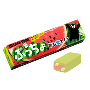 UHA Puccho Stick Candy Watermelon Soda Flavor| 味覺糖 西瓜梳打味果肉條裝軟糖 50g 10Pcs [日本限定]