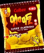 CALBEE - Potato Chips Curry Flavor |卡樂B 咖喱味薯片 55G
