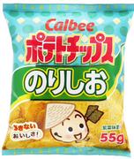 CALBEE - Potato Chips Seaweed Flavor | 卡樂B 紫菜薯片55G