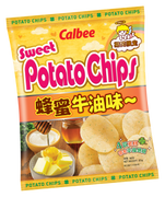 CALBEE - Potato Chips Honey & Butter Flavor |卡樂B 蜂蜜牛油味薯片 55G