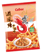 CALBEE - Prawn Crackers HK Typhoon Pond Crab Flavor  |卡樂B 大排檔風味 蝦條避風塘炒蝦味 90G