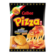 CALBEE - Potato Chips Melty Cheese Pizza Flavor |卡樂B 厚切脆脆芝士薄餅味薯片 55G