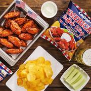 Calbee American Buffalo Wings Flavor Potato Chips | 卡樂B - 美式水牛城雞翼味薯片 55g