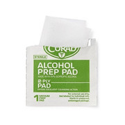 Curad Alcohol Prep Pads, 2-Ply Alcohol Swabs, Medium Size 36 pad 酒精棉片 36片