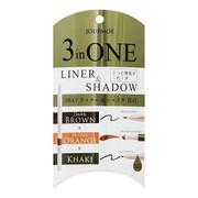 JOURMOE 3-In-1 Liquid Eye Liner & Gel Pencil & Shadow | 3合1 眼線液x眼線液x眼線膠筆 (#04 CASUAL)