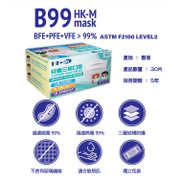 HK MASK HI-TECH Face Mask For Child 30Pcs  | 口罩科技 兒童醫用口罩 ASTM Level 2 (30片裝/盒) Made in HK