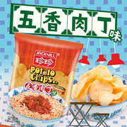 JACK N JILL Potato Chips Spiced Pork Cubes Flavor (Big Size) | 珍珍薯片 五香肉丁味 (大大包)  95g