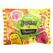 CALBEE - JAGABEE Potato Sticks & Osatsubee Sweet Potato Sticks | 宅卡B 薯條(原味)+番薯條(輕鹽味)  (6 Small Pack) 105g