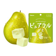 KABAYA Pure & Natural Fruit Soft Candy La France | KABAYA 雙層夾心水果軟糖 軟糖 洋梨味  58g