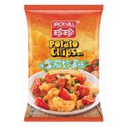 JACK N JILL Potato Chips Tomato & Egg Stir-Fry Flavor | 珍珍薯片 番茄炒蛋味 120g (大大包裝)