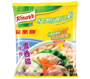KNORR Quick Serve Macaroni Pork Wonton Flavor | 家樂牌 快熟通心粉鮮肉雲吞湯味 80g