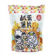JIEJIE & UNCLECAT - Potato Chips Salted Egg Flavor | 爵爵&貓叔 鹹蛋薯片 90g