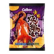 CALBEE - Potato Chips Roasted Goose Flavor |卡樂B 火焰燒鵝味薯片 68G