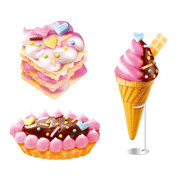 Popin' Cookin' DIY  Ice Cream Shop Kit | 知育果子 鮮奶油蛋糕店 27g