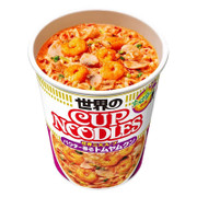 NISSIN Cup Noodles Tom Yum Shrimp  Flavor | 日清杯麵 冬蔭功蝦仁味 75g