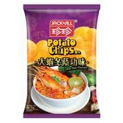 JACK N JILL Potato Chips Tom Yum Flavor | 珍珍薯片 大蝦冬蔭功味 120g (重量級大包)