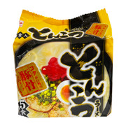 HIGASHIMARU Instant Ramen Tonkstsu Flavor 東丸 鹿兒島拉麵 豚骨白湯味 79.2g 【1包裝/5包裝】