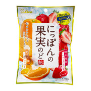 LION Fruits Candy Strawberry & Orange Flavor | LION 果汁糖 草莓及香橙味 72G