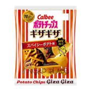 CALBEE - Potato Chips Gizagiza Spicy Flavor  | 卡樂B 厚切波浪薯片 辣薯條味 58G