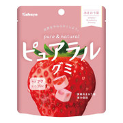 KABAYA Pure & Natural Fruit Soft Candy Strawberry Flavor | KABAYA 雙層夾心水果軟糖 軟糖 草莓味  58g