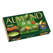 MEIJI Almond Chocolate Green Tea Flavor | 明治杏仁朱古力 宇治抺茶味 79g
