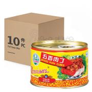 Case of 10 Narcissus Spiced Pork Cubes 水仙花牌 五香肉丁142G x 10 (免運費,已包含12% 付加費)