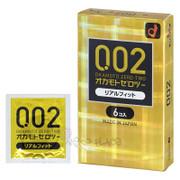 OKAMOTO Condoms  0.02mm  | 岡本 0.02mm 黃金版貼合緊型安全套 6片裝
