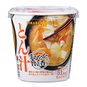 HIKARI Cup Miso Soup Pork Flavor 即沖杯裝味噌湯 豚肉蔬菜味  52.8g
