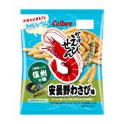 CALBEE - Prawn Cracker Mustard Flavor | 卡樂B 蝦條 信州 安曇野芥末味 [日本版] 70g