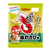 CALBEE - Prawn Cracker Wasabi Flavor | 卡樂B 蝦條 北海道 山葵味 [日本版] 70g