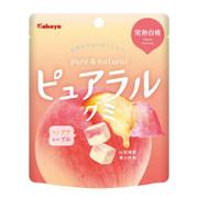 KABAYA Pure & Natural Fruit Soft Candy Peach | KABAYA 雙層夾心水果軟糖 軟糖 白桃味 58g