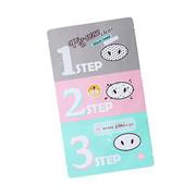 Holika Pig-Nose Clear Black Head 3 Step Kit 韓國粉紅豬鼻強效去黑頭收毛孔 3連貼