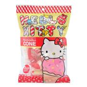 Hello Kitty Marshmallow Cone Strawberry Flavor 吉蒂貓 雪糕筒棉花糖 草莓味 60G