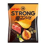 Koikeya STRONG Potato Chips Onion Steak Flavor | 湖池屋 香蒜牛扒味薯片 56g