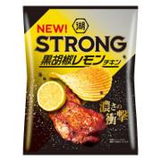 Koikeya STRONG Potato Black Pepper Lemon Chicken Flavor | 湖池屋 黑椒檸檬雞味薯片 56g