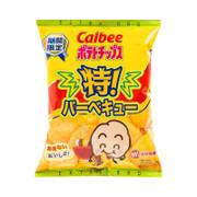 CALBEE - Potato Chips Extra BBQ Flavor |卡樂B 特燒烤味薯片 68G
