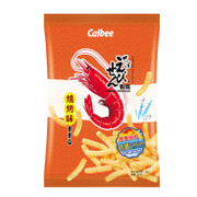 CALBEE - Prawn Crackers Shrimp with BBQ Flavor | 卡樂B 燒烤味蝦條 40g