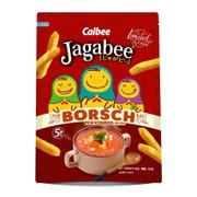 CALBEE - JAGABEE Potato Sticks Borsch Flavor | 宅卡B 羅宋湯味 Bag Size (17G X5 Small Pack) 85G