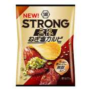 Koikeya STRONG Potato Chips Leek Beef Flavor | 湖池屋 無限蔥油牛扒味薯片 85g