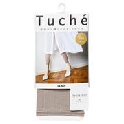 GUNZE Women's Bright Stripe Leggings Ankle Length 日本 夏季輕薄 內搭褲  亮色條紋 9分丈 【黑色 Black/棕灰色 Taupe】