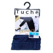 GUNZE Tuche Women's Knit Denim Leggings with Belt Loops Skinny Ankle Length 日本超彈性貼身涼感九分牛仔褲 【兩色】