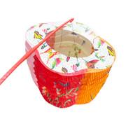 Traditional Chinese Mid Autumn Paper Lantern 傳統中秋紙燈籠 20cm 含提桿及蠟燭1枝【多個款式隨機發貨】