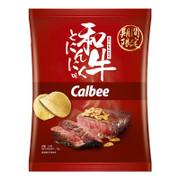 CALBEE - Potato Chips Wagyu Fried Garlic Flavor |卡樂B 香蒜和牛味薯片 70g