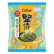 CALBEE - Potato Chips Green Soybeans Butter Flavor  | 卡樂B 堅脆薯片 枝豆鹽牛油味 60G