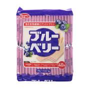 HAMADA Healthy Club Blueberry Wafles 哈瑪達 藍莓威化餅 膳食纖維 40pcs