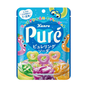 Kanro Pure Heart Shaped Ring Gummy Soda Flavor | 甘樂 心型橡皮糖圏 汽水味 63g