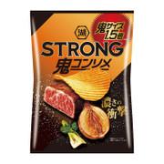 Koikeya STRONG Potato Chips Onion Steak Flavor | 湖池屋 香蒜牛扒味薯片 85g
