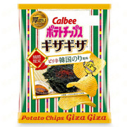 CALBEE - Potato Chips Korean Spicy Seaweed Flavor  | 卡樂B 薯片 韓國微辣海苔味 58G