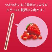GLICO Pocky Chocolate Biscuit Sticks Strawberry Flavor | 固力果 草莓果肉 朱古力餅乾棒 2packs